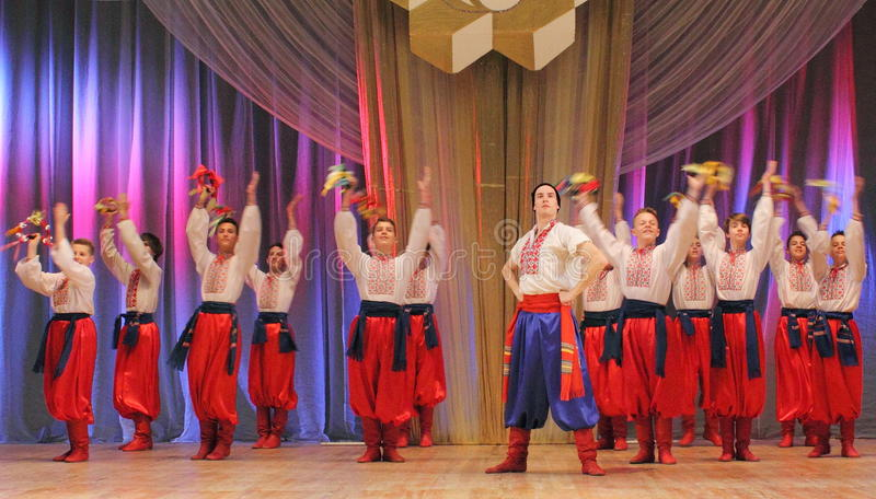 Dance Ensemble. Of the Ukrainian national dance. Kiev. Palace of Children and Youth. 2015 royalty free stock photo