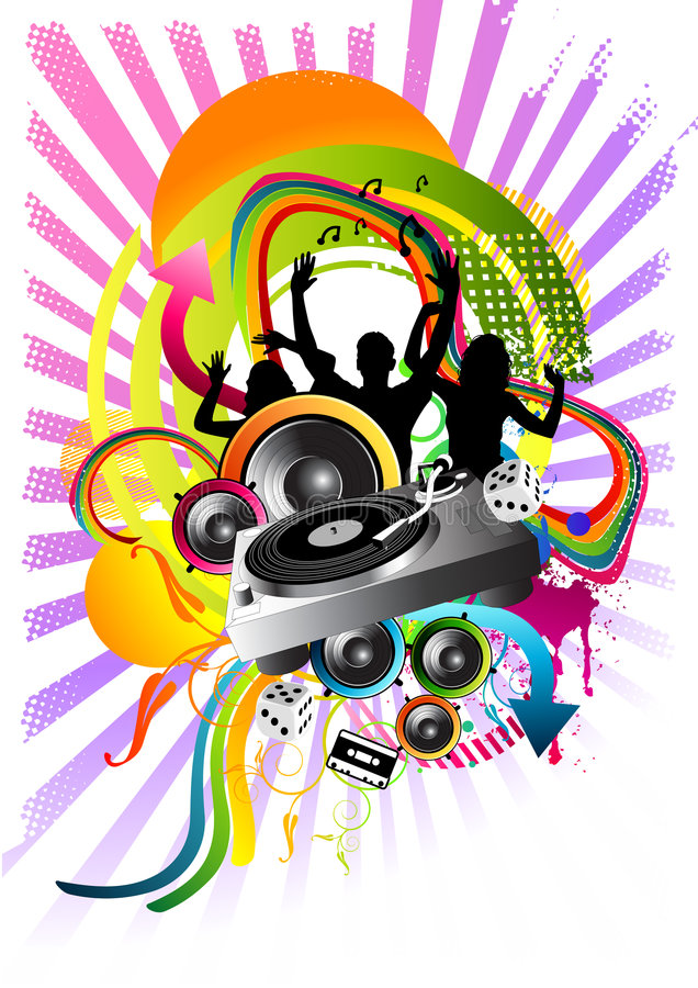 Dance explosion! stock illustration