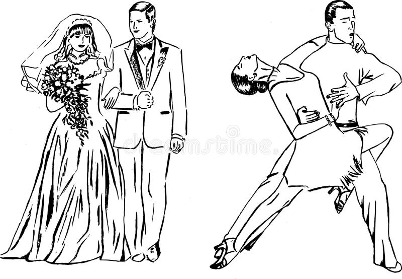 Download Dance Expression And Wedding Stock Illustration - Illustration of black, design: 14360182