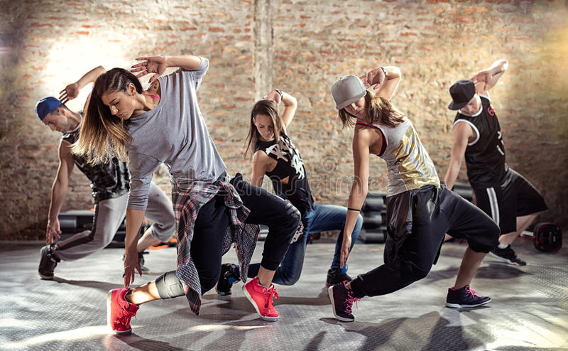 Dance fitness workout royalty free stock photography