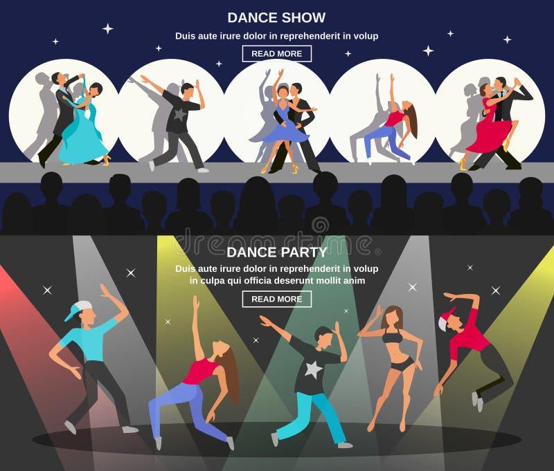 Dance Flat Banner vector illustration