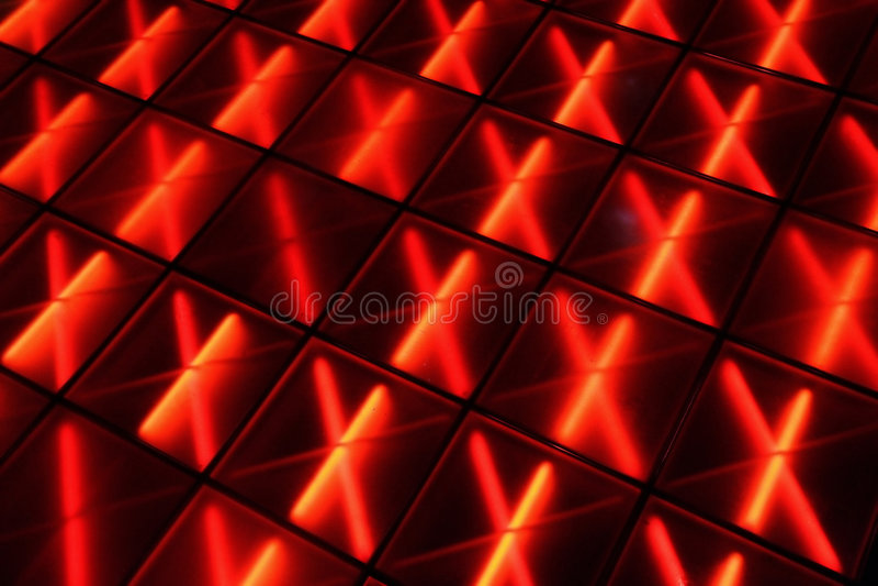 Dance Floor rosso fotografie stock libere da diritti