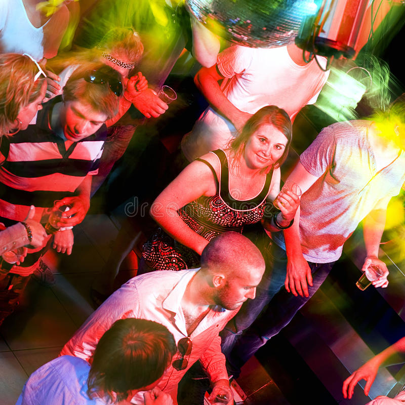 Dance floor smile royalty free stock photography