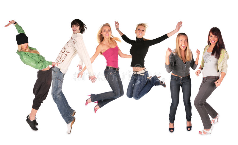 Dance group people royalty free stock photo
