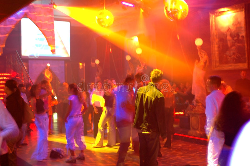 Dance hall 4. Dance hall with happy dancing people
