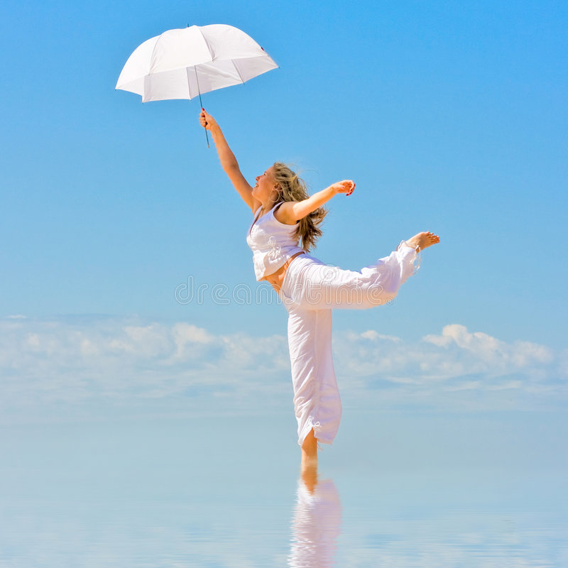 Dance in heaven royalty free stock images