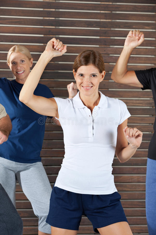 Dance instructor in dancing class stock photos