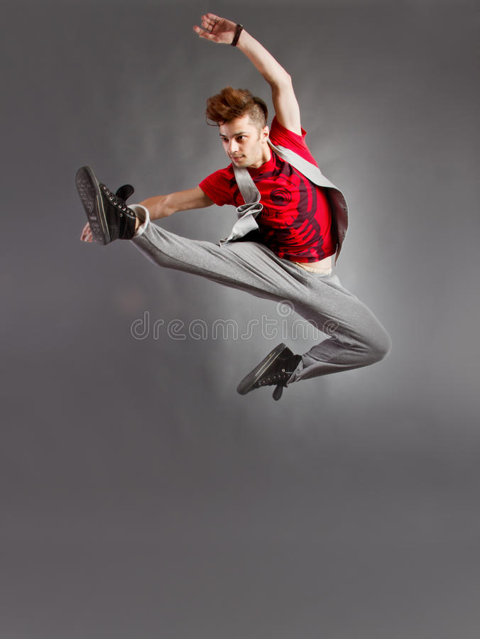 Dance jump royalty free stock images