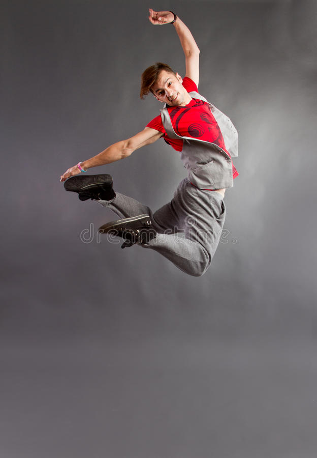 Dancer jumping stock photography
