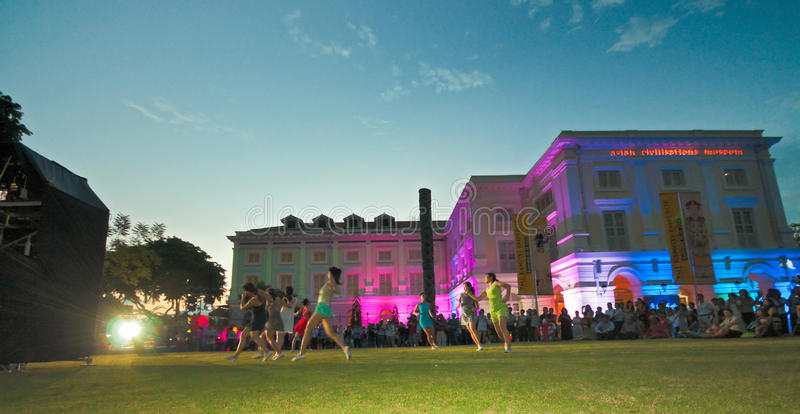 Dance on the Lawn at Dusk royalty free stock photography