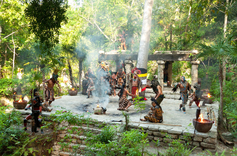 Download Dance Of Mayan Tribe In The Jungle Editorial Photo - Image of mayan, people: 21809146