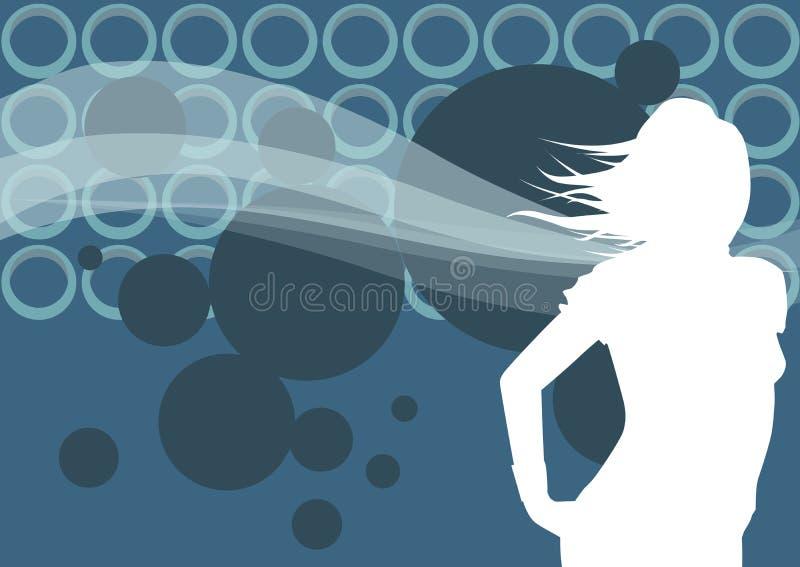 Dance a menina ilustração stock