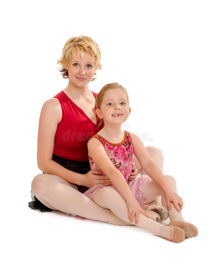 Dance Mom and Tiny Tot Dancer stock images