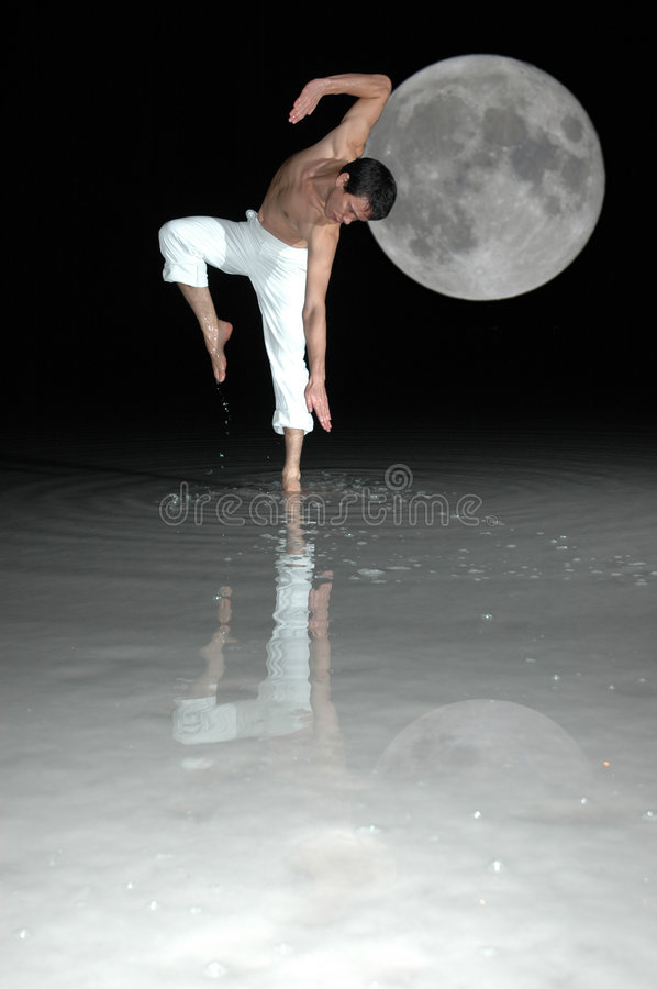 Dance with the moon stock photos