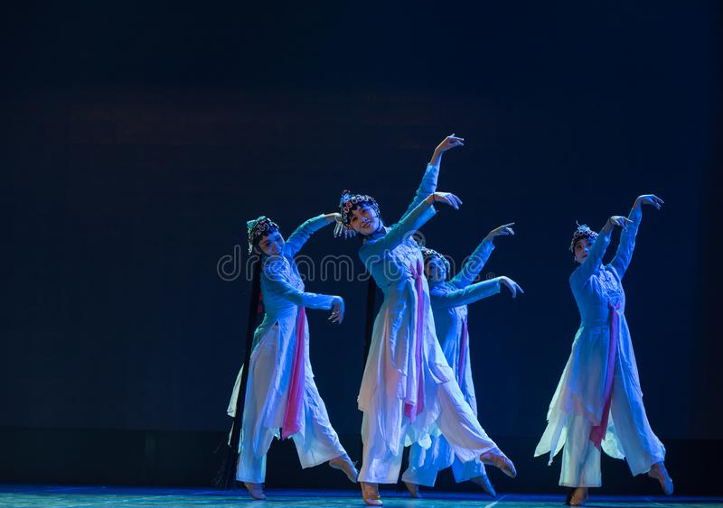 The dance in the moonlight-Small Su three-Beijing Opera Dance stock images