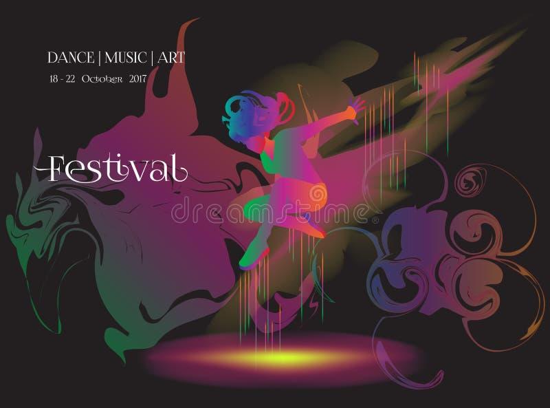Dance music art vector illustration