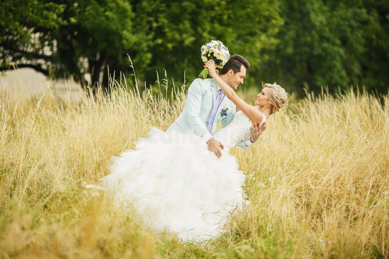 Dance in the open field royalty free stock photography