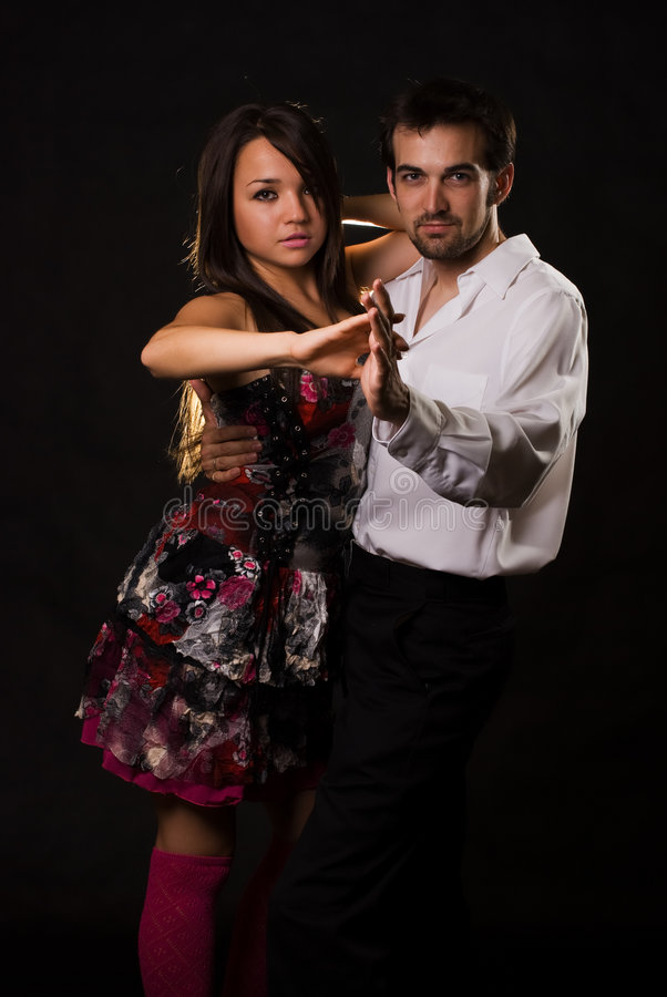 Dance partners royalty free stock photography
