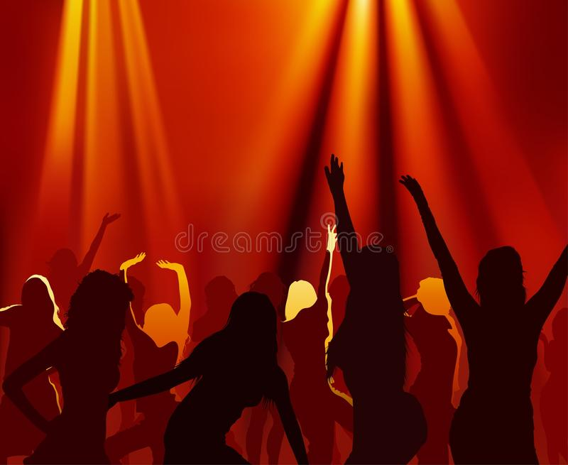 Download Dance Party stock vector. Image of people, silhouette - 24715003