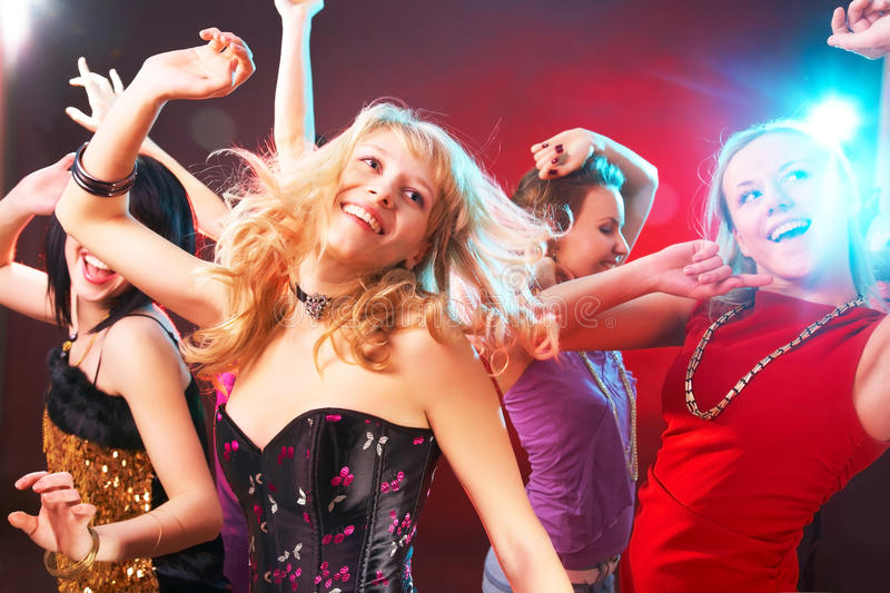 Dance party royalty free stock photography