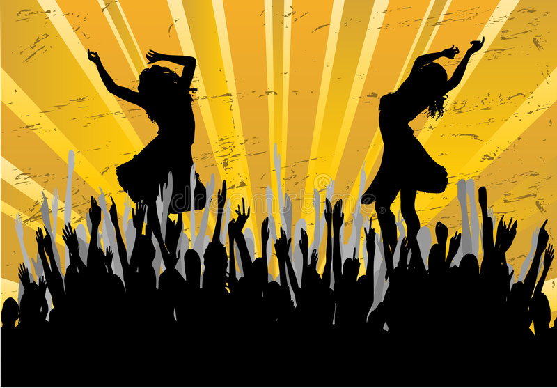 Dance Party Background stock illustration