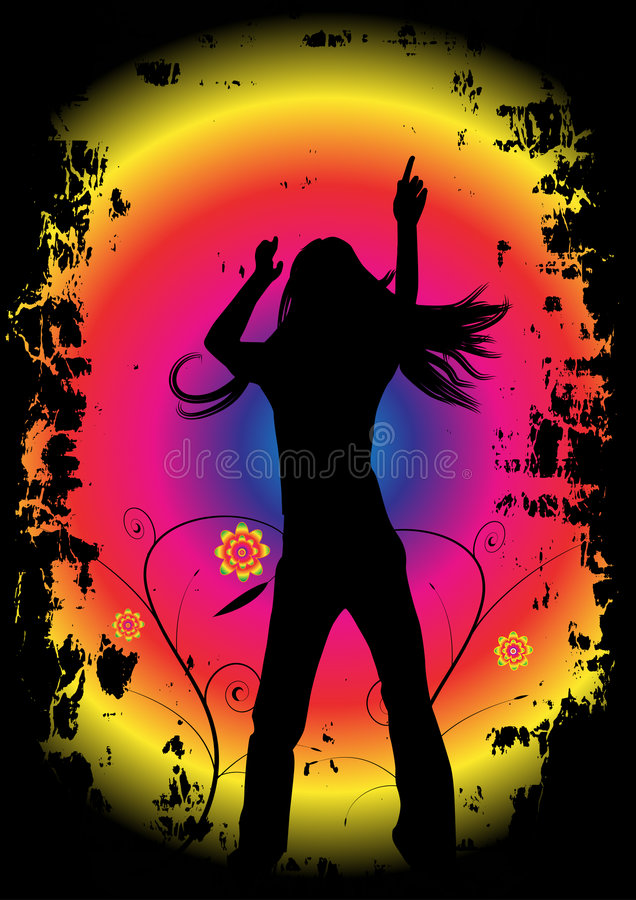 Dance party design stock illustration