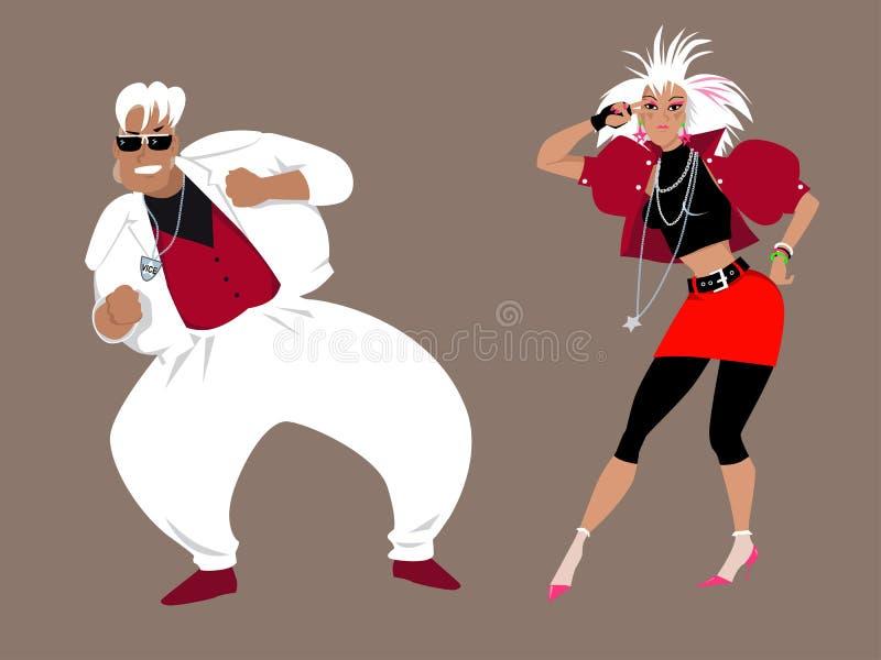 dance party dos anos 80 ilustração do vetor