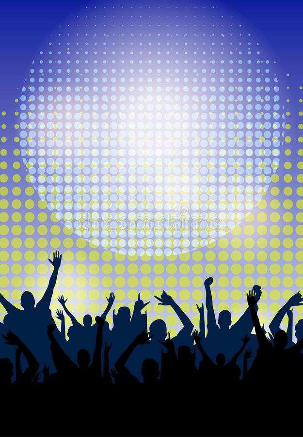 Dance Party Night Poster Background Template. Vector Illustration vector illustration