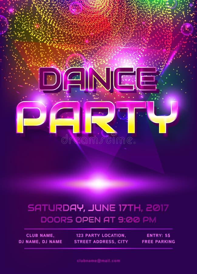 Dance party invitation stock vector Illustration of brochure