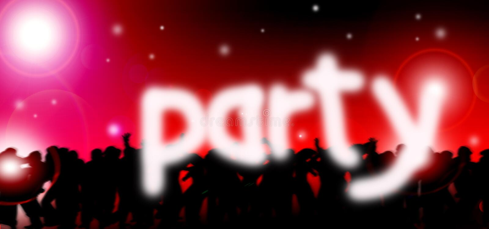 Dance party music stock photography