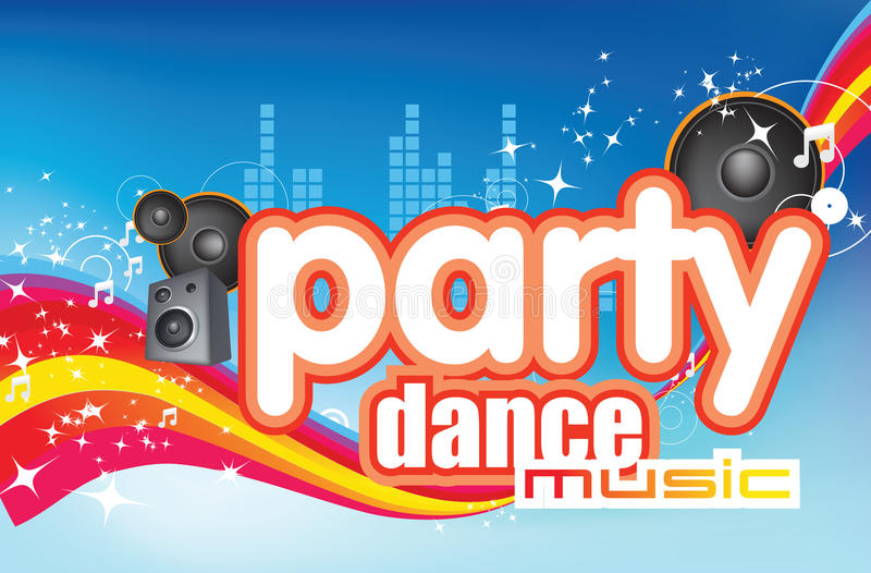 Dance party music royalty free illustration