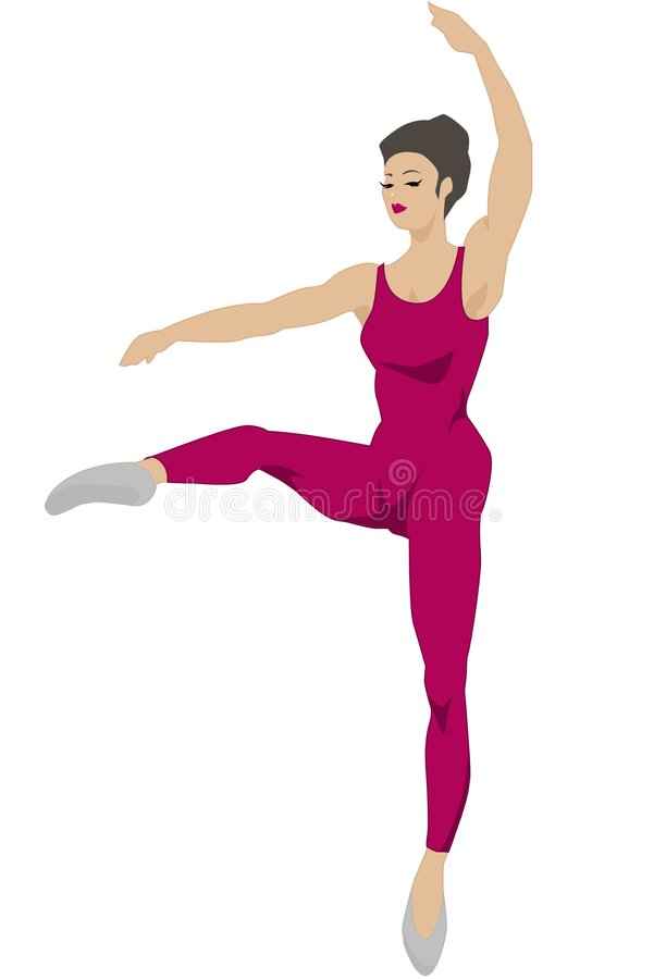 Download Dance Series - Attitude 2 (red) Royalty Free Stock Images - Image: 2051609
