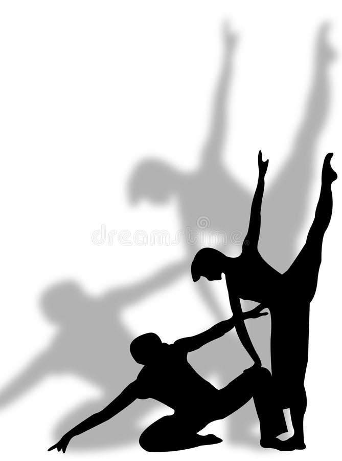 Dance and shadow stock illustration