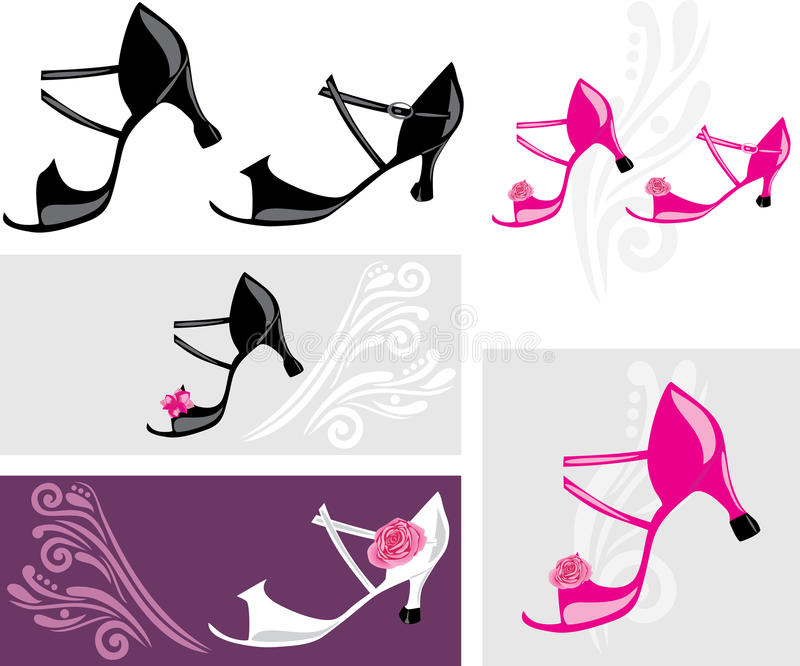 Dance shoes. Elements for design royalty free stock photography