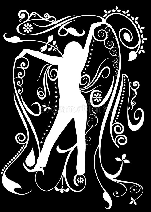 Download Dance silhouette stock illustration. Image of background - 16943440