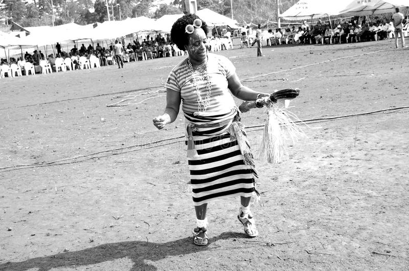 DANCE AND SPIRITUALITY. An African dancer in sketch dance steps of funeral ceremony in occultism to spread the wrong spell during the ceremony by removing bad royalty free stock photos