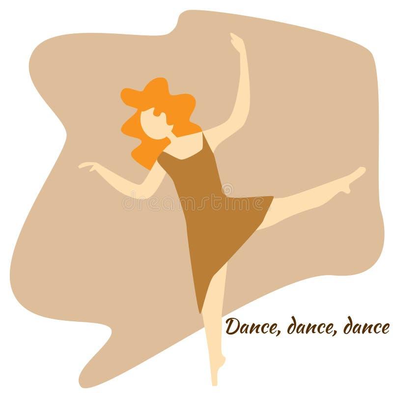 Dance studio royalty free illustration