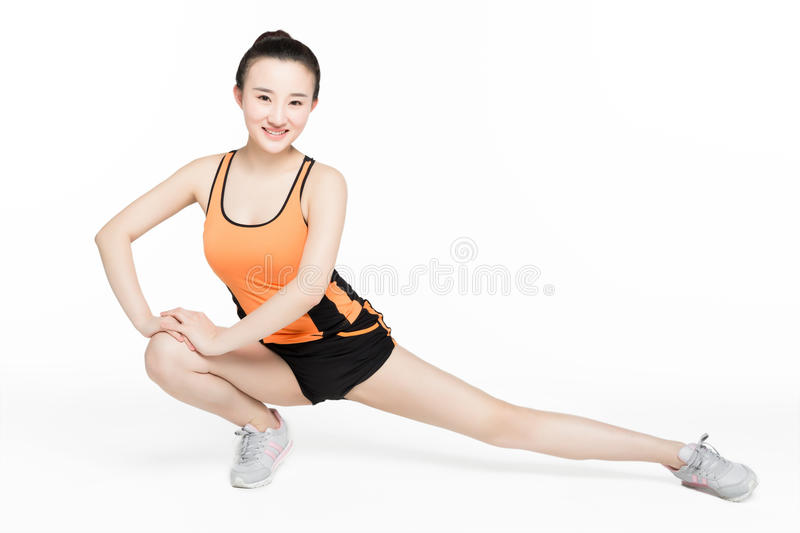 Dance studio girl. The girl's body has good flexibility and strength stock photo