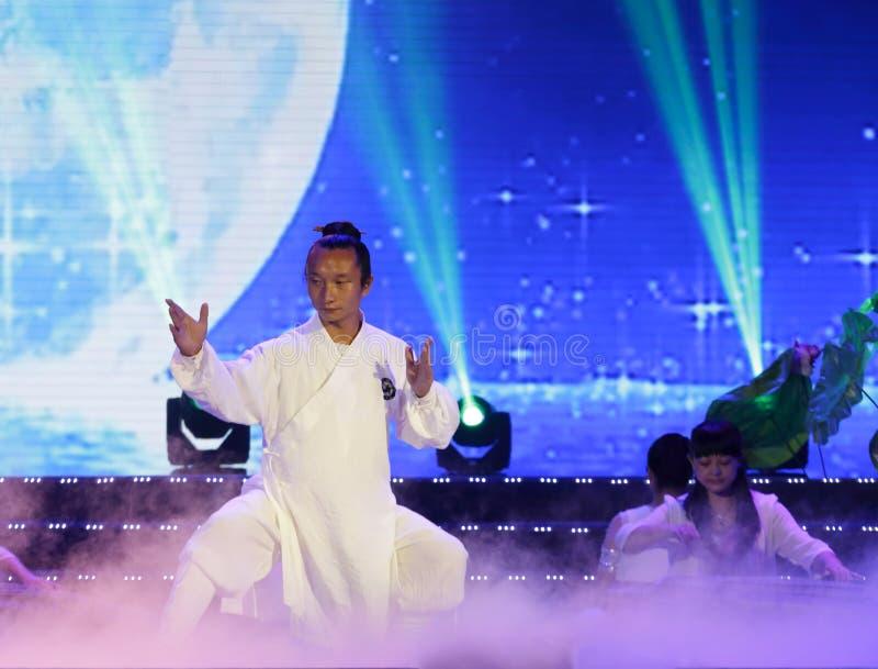Dance: tai chi performances royalty free stock photos