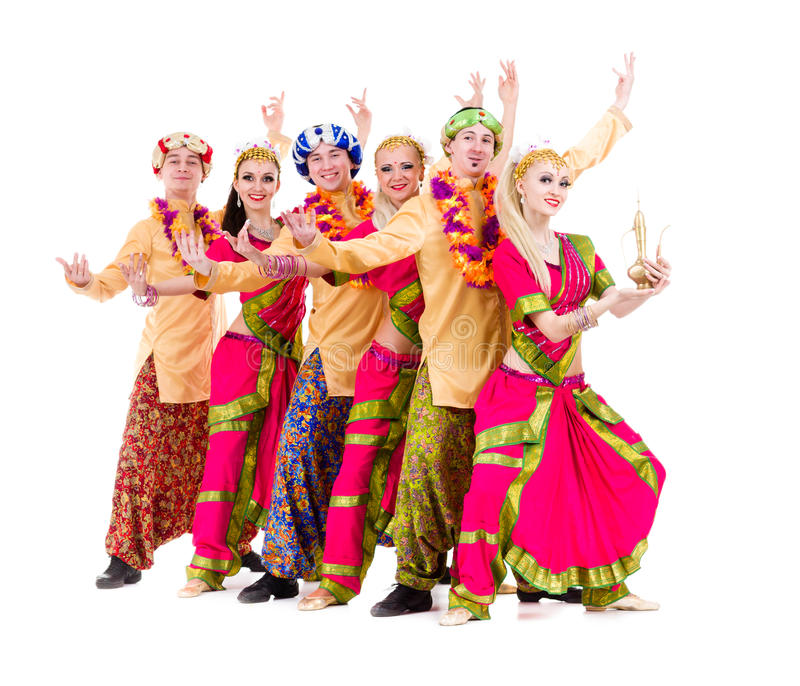 Download Dancers Dressed In Indian Costumes Posing Stock Photo - Image: 30161548