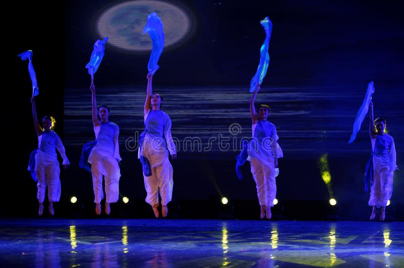 The search of the sea 2 -Chinese folk dance. Dance is the transformation of the sea, like a girl, like a shrew, but a mother`s mind. In June 13, 2018, dance stock images