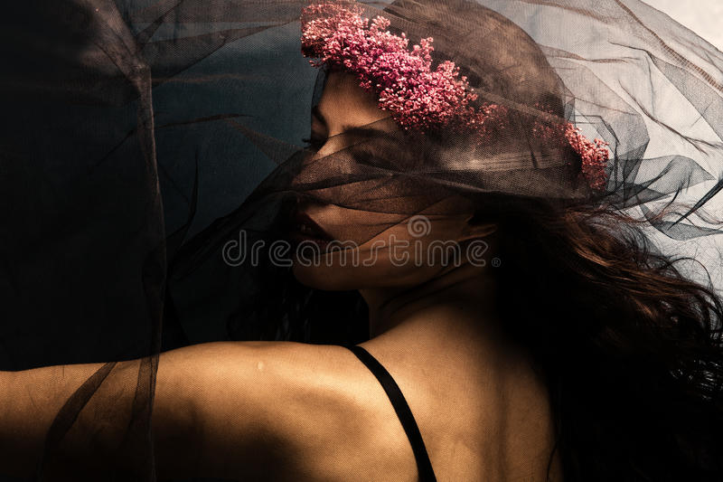 Dance under veil royalty free stock photography