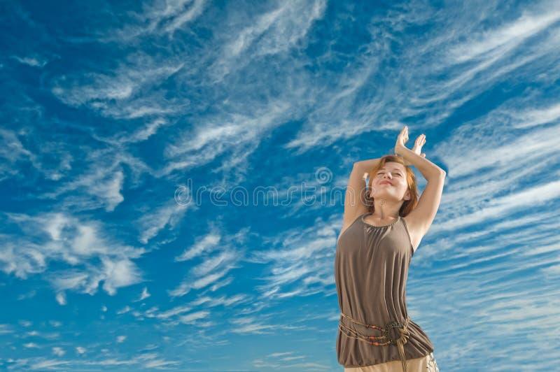 Dance yoga stock photography