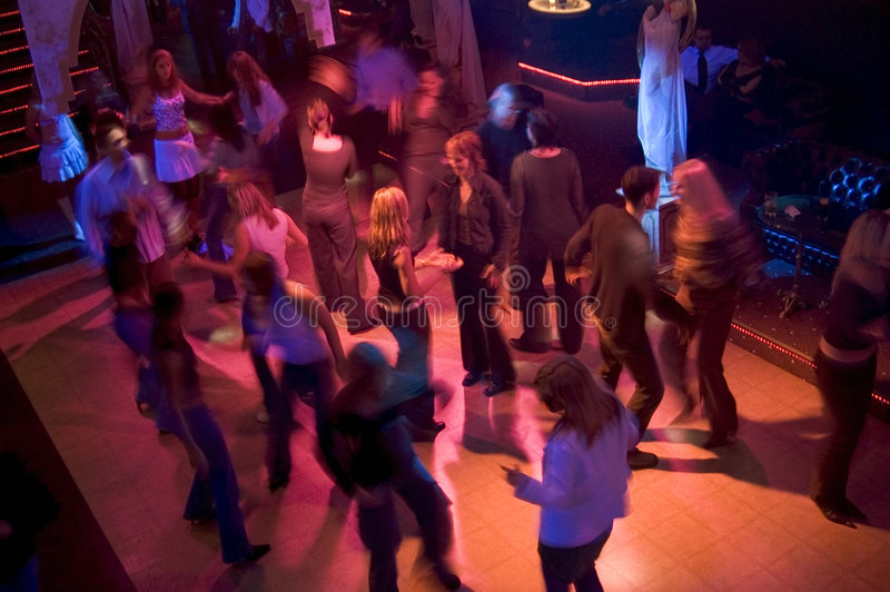 Dancefloor疯狂 库存图片