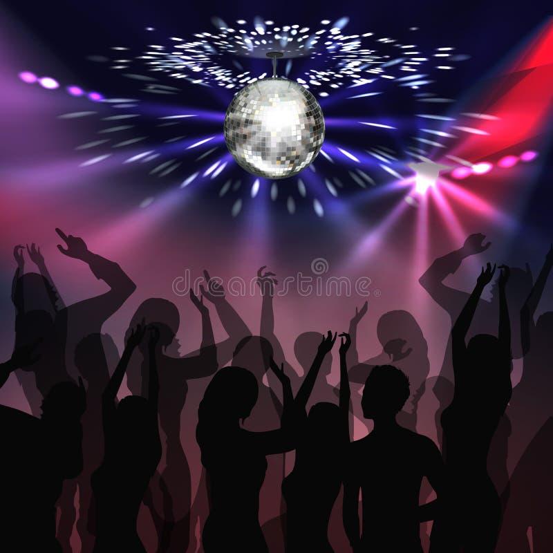Dancefloor κομμάτων Disco διανυσματική απεικόνιση