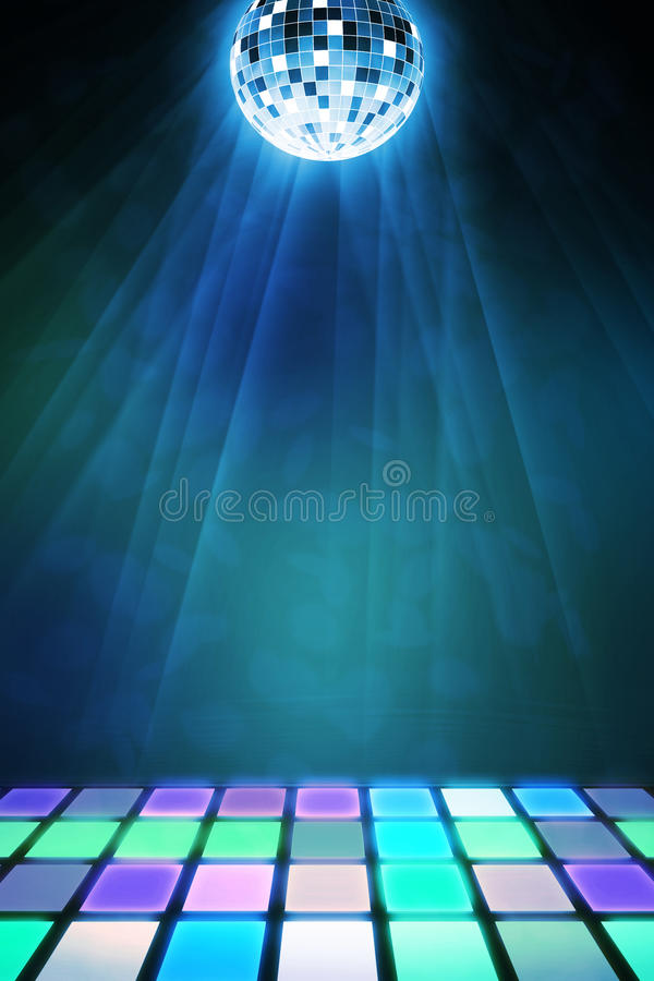 Dancefloor Background Stock Illustration Illustration Of