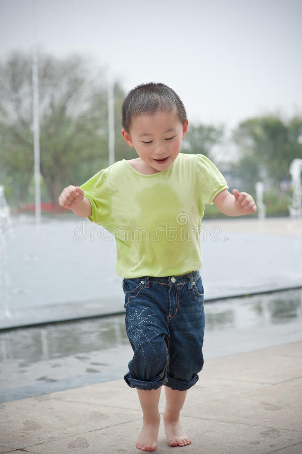 Danceing asian boy royalty free stock photography