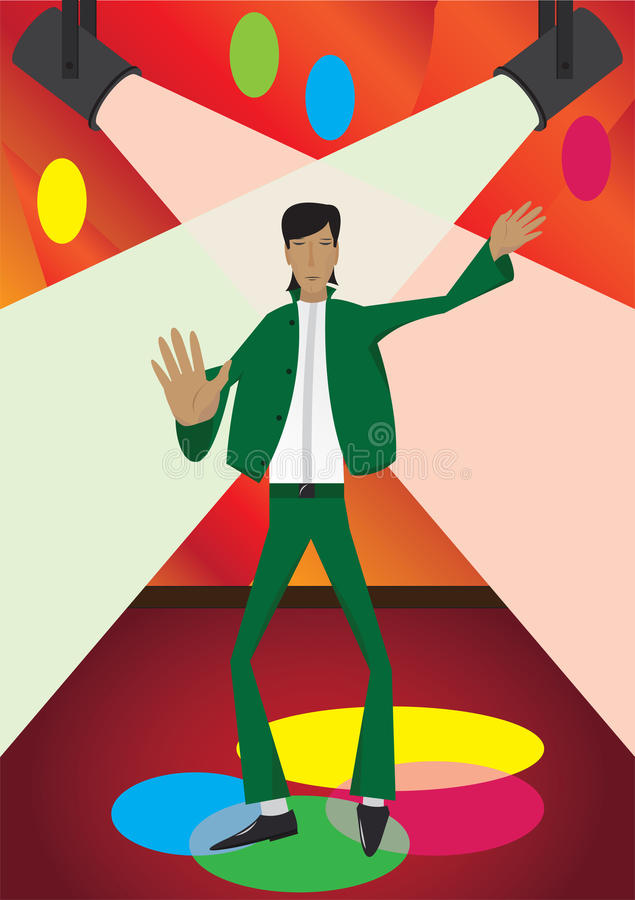 Download Dancer stock illustration. Image of lights, green, disco - 11001676