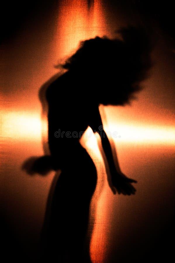 Dancer. Girl Dancing, Silhouette of a Girl stock image