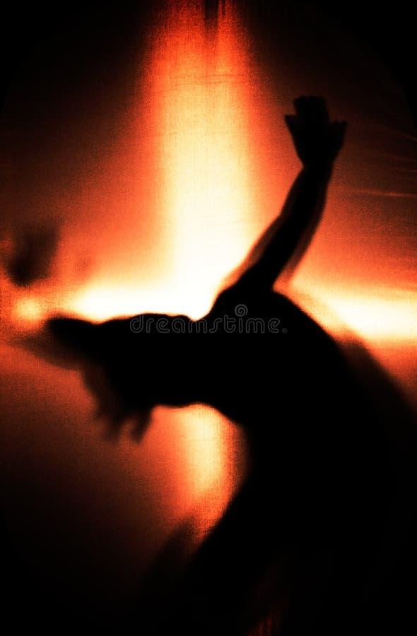 Dancer. Girl Dancing, Silhouette of a Girl royalty free stock photos